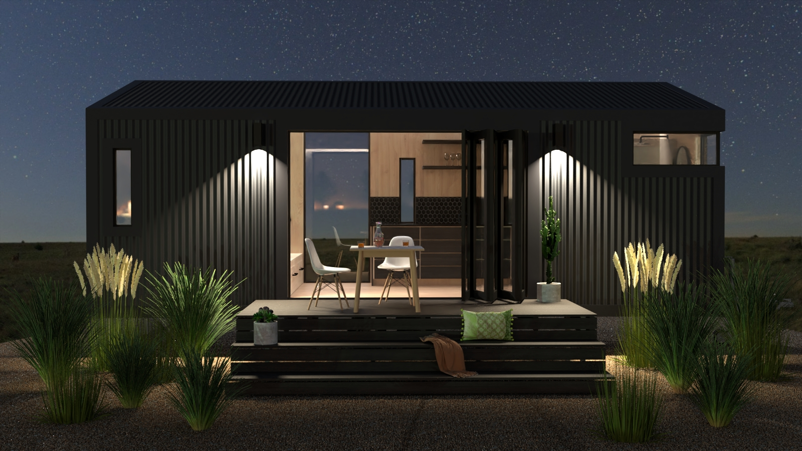 Tinyhome at night