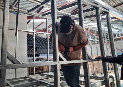 Installing the light steel frame